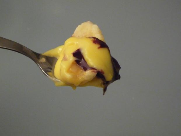 hot banana split close up