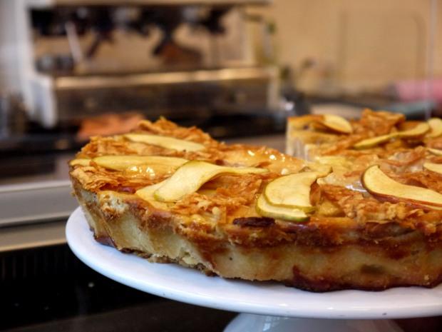Apple cheesecake, Princess Cheesecake, Berlin