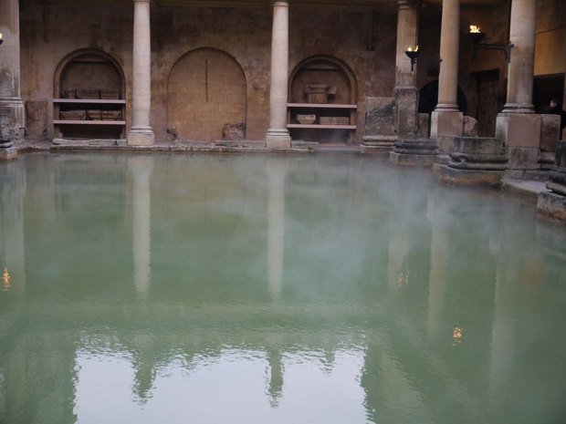 Steaming Roman baths