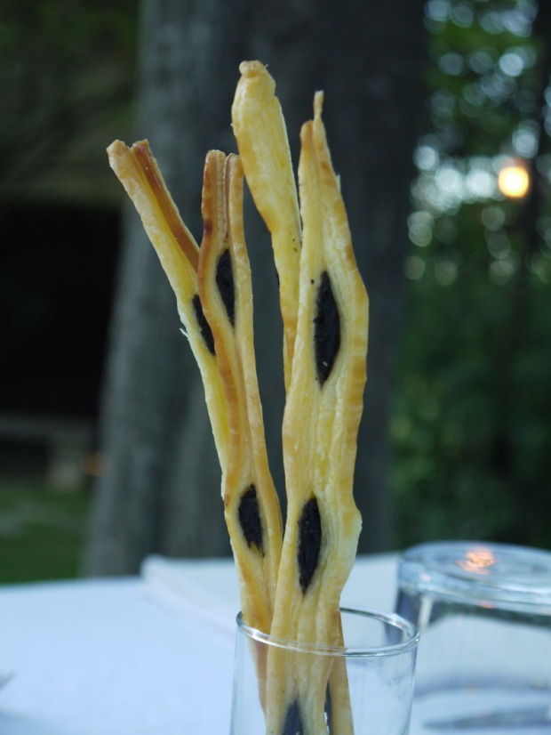 Olive breadsticks at L'Artemise, Pont-du-Gard