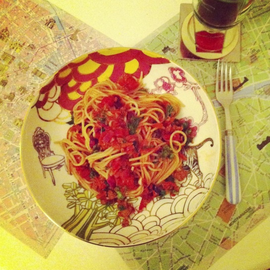 Spaghetti, tomato, quorn and more
