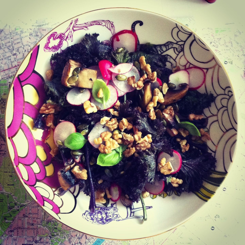 Purple chard salad