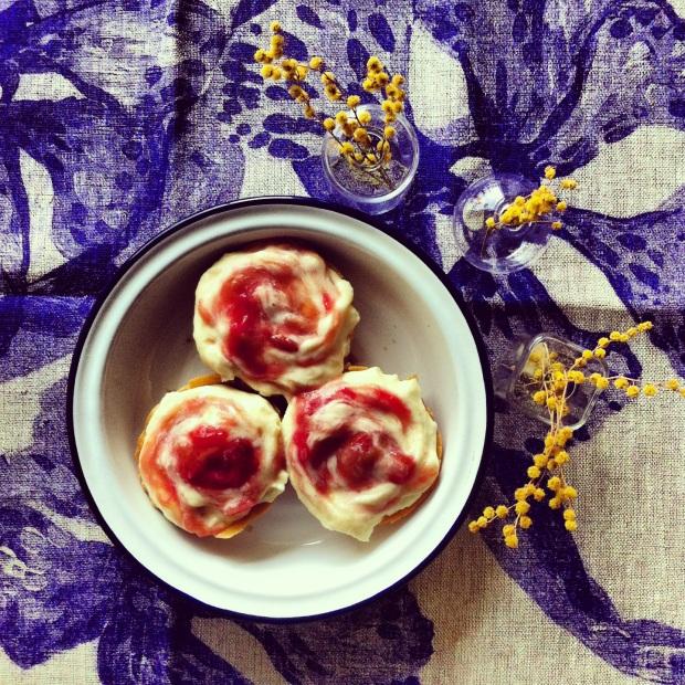 Raspberry Ripple Custard Tarts recipe