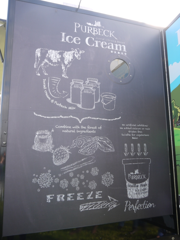 Purbeck ice-cream, Dorset